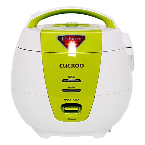 Nồi cơm điện Cuckoo CR-0661 1L (Trắng phối cam) - Hàng nhập khẩu