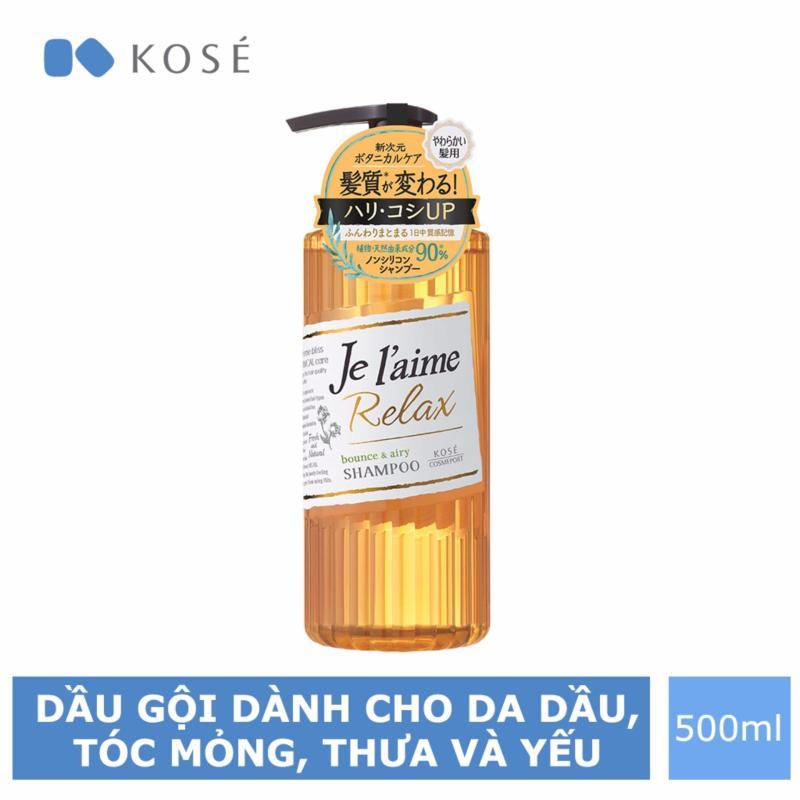 Dầu Gội Dành Cho Da Dầu, Tóc Mỏng, Yếu Kosé Cosmeport Je laime Relax Shampoo Bounce & Airy 500ml