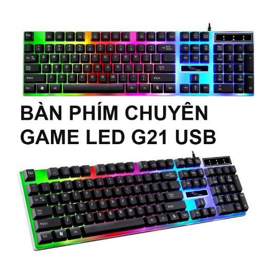 Bàn phím giả cơ game G21 LED chuyên dụng 2017