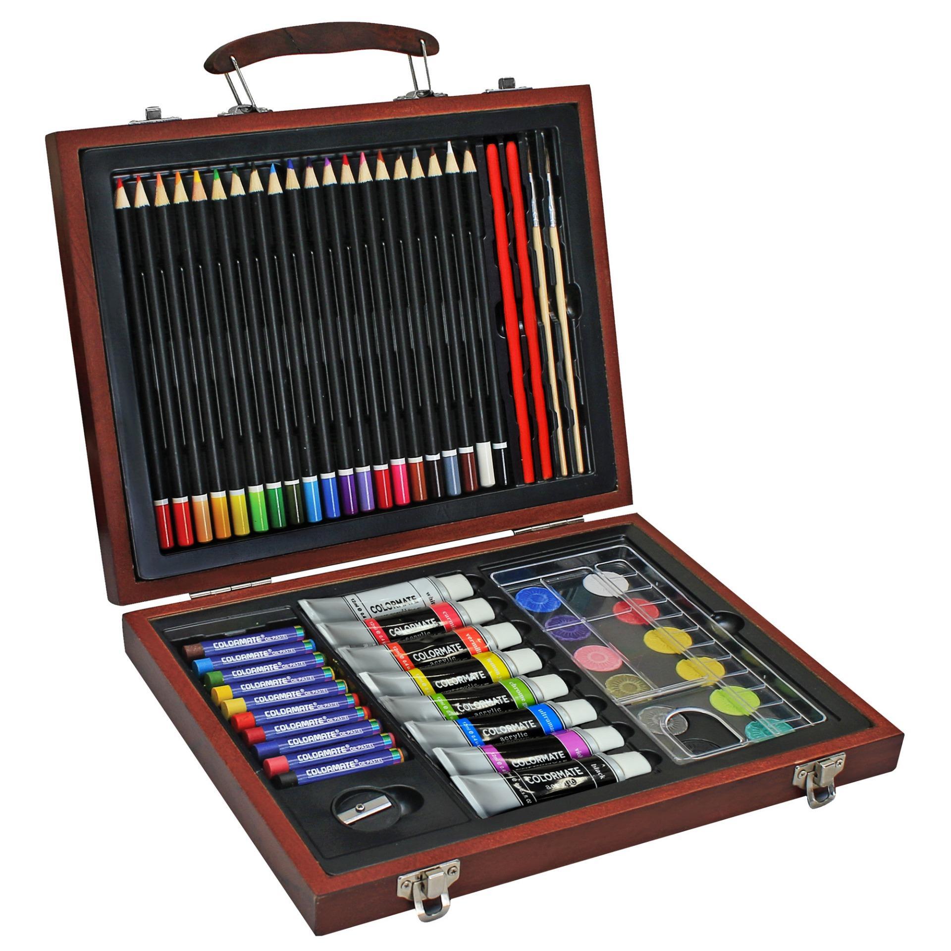 Hình ảnh Bộ màu vẽ đa năng hộp gỗ Colormate MS-58W