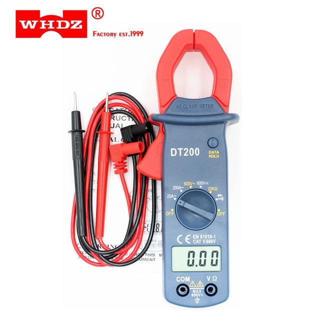 Ampe kế cầm tay kẹp vạn năng kỹ thuật số kẹp mét DT200