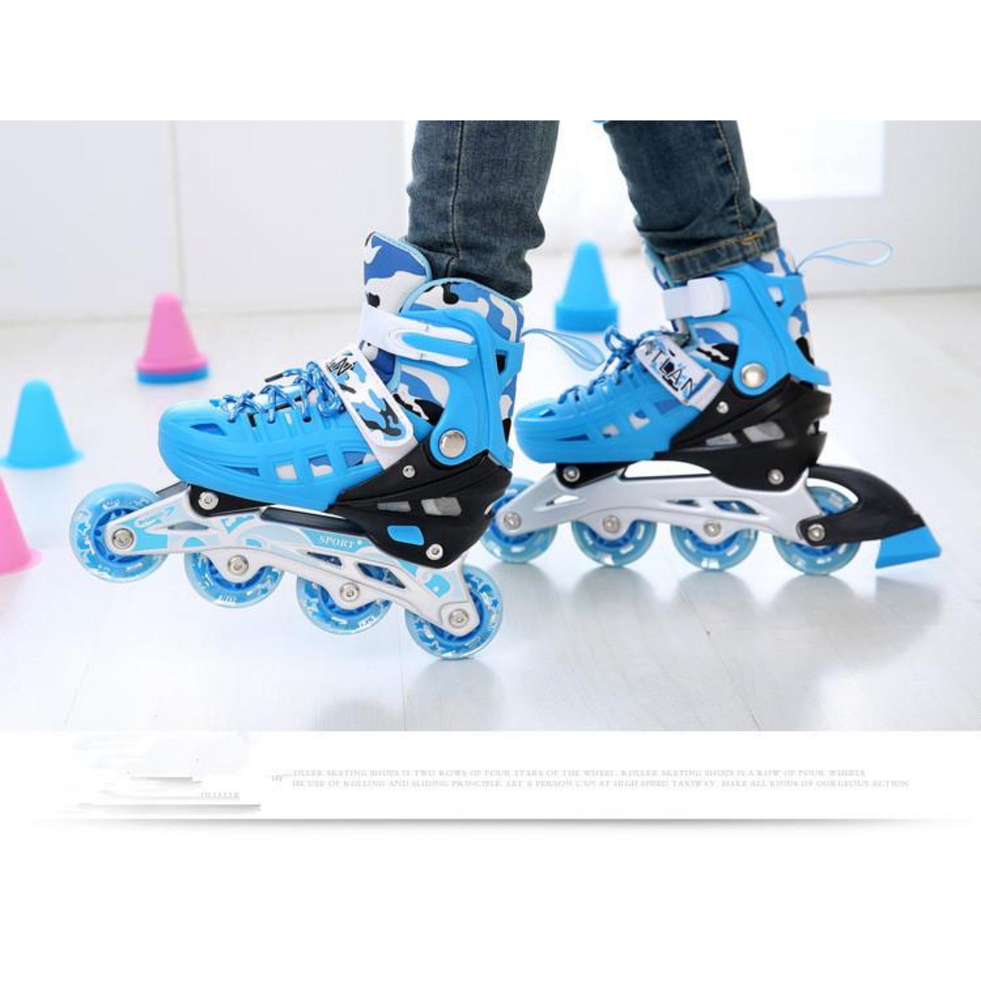 Giày patin tốt,giày trượt patin cho bé - Giày Patin Trẻ Em, Chắc Chắn, Ôm Sát Chân Chân,  Giúp Bé Vui Chơi Thỏa Thích Mà Lại An Toàn, Sản Phẩm Cao Cấp -Tặng Kèm Bộ Bảo Hộ Đáng Yêu  - Mẫu Mới 2125