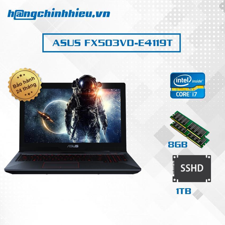 Hình ảnh Laptop ASUS FX503VD-E4119T i7-7700HQ, 128GB SSD + 1TB, Win 10 - Hãng Phân phối chính thức