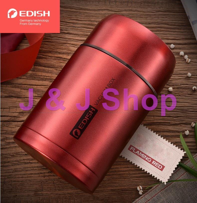 Bình ủ cháo, giữ nhiệt Edish thương hiệu Đức inox 316 cao cấp 1000 ml + Tặng Túi Giữ nhiệt