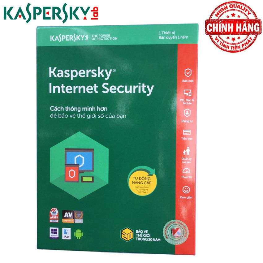 Hình ảnh Phần mềm diệt virus Kaspersky Internet Security 2018 1PC