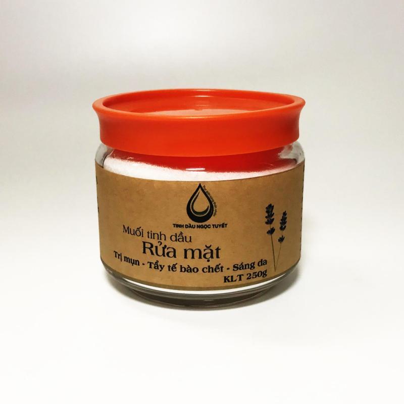 Muối tinh dầu rửa mặt mịn da oải hương 250gr chuyên trị mụn với 100% thiên nhiên Việt Nam nhập khẩu