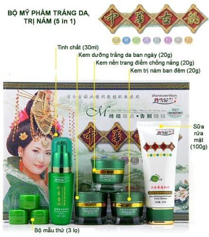 Bộ mỹ phẩm Hoàng Cung set 5 màu xanh
