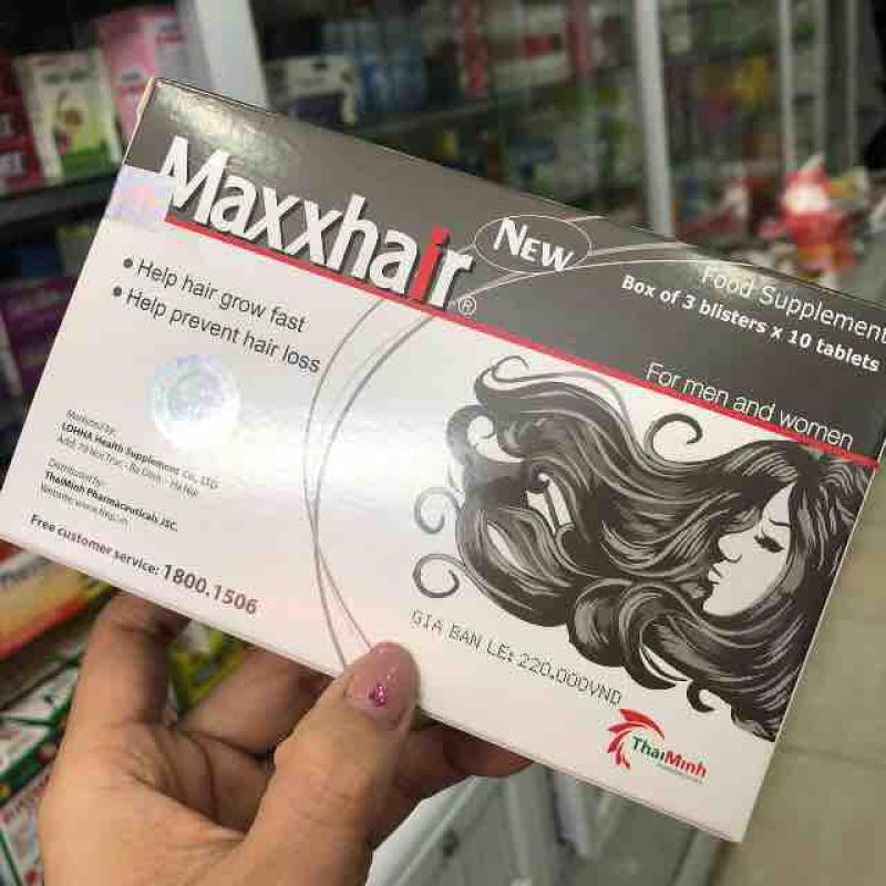 Maxxhair - Mọc tóc nhanh, ngừa rụng tóc 2 hộp nhập khẩu