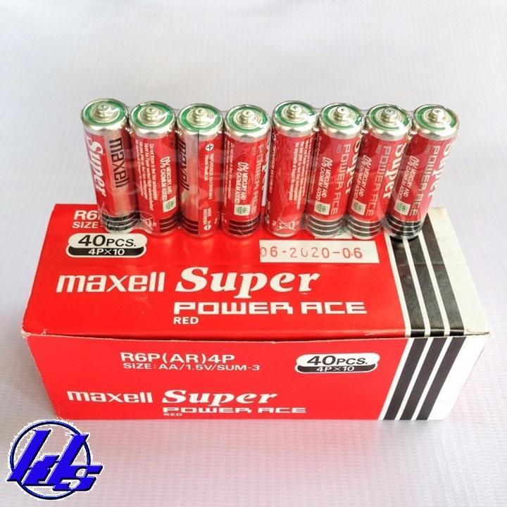 Pin AA Maxell R6P(AR)4P Super ACE - hộp 40 viên