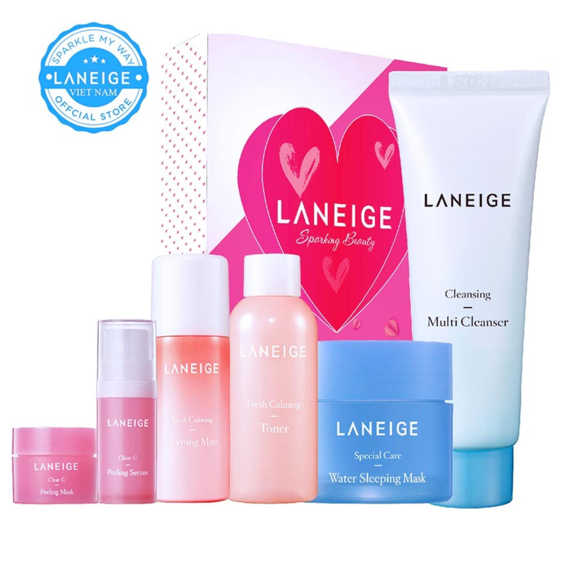 Hình ảnh Bộ 6 sản phẩm chăm sóc da dầu giúp se khít lỗ chân lông và sạch nhờn dầu Laneige Oily Skin Care Routine Trial Set