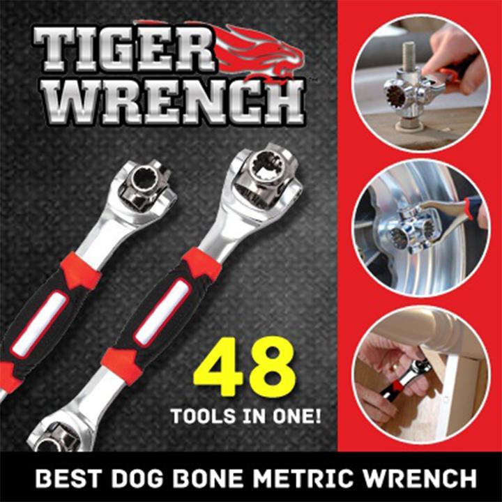 Cờ Lê Đa Năng Tiger Wrench 48 Trong 1 - Cole Đa Năng Kiểu Mỹ Nhật Bản 8 Đầu Trong 1