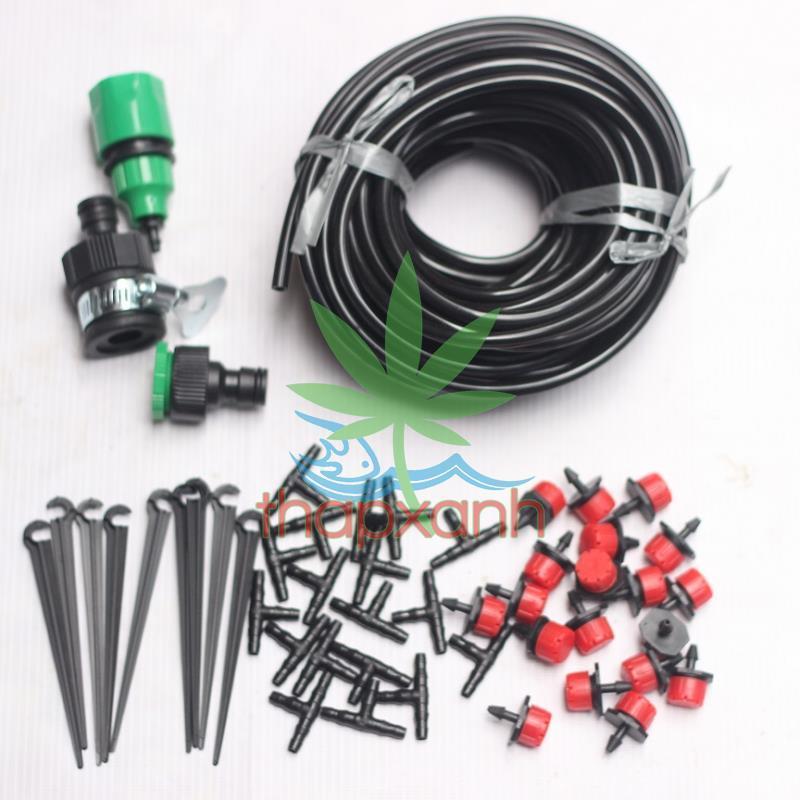 Bộ Kit 16 Đầu tưới 8 tia đầy đủ dây, phụ kiện (TX-DIY-031) Diy bộ kít tưới tự động