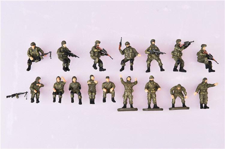 Hình ảnh Mô hình quân lính tỉ lệ (bộ 16 người) 1:72