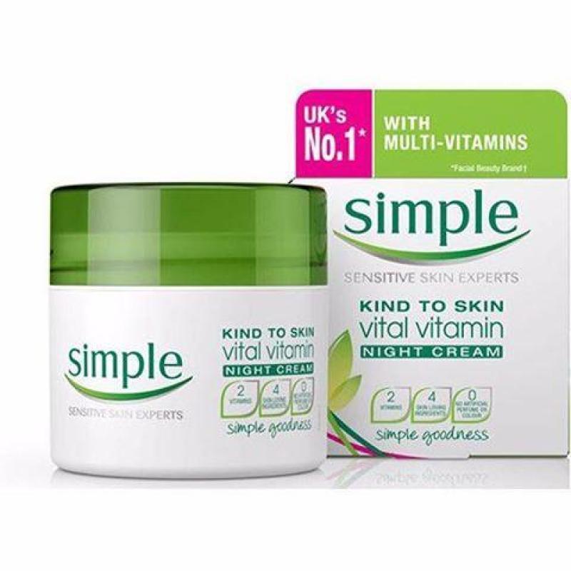 Kem dưỡng ẩm Simple Kind To Skin Vital Vitamin Night Cream 50ml cao cấp