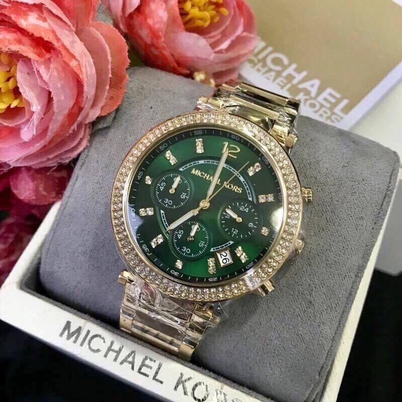 Đồng hồ nữ dây kim loại MICHAEL KORS Mk6263 mặt xanh ( dây vàng) bán chạy