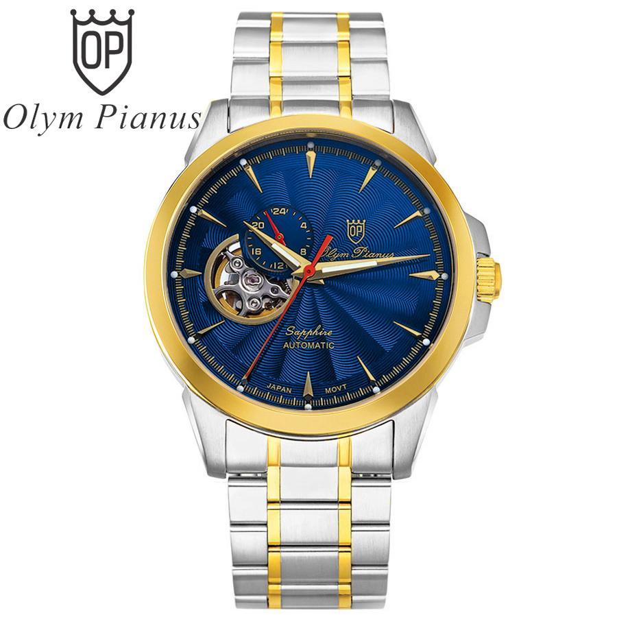 Đồng hồ nam mặt kính sapphire Olym Pianus OP990-083AMSK xanh lam bán chạy