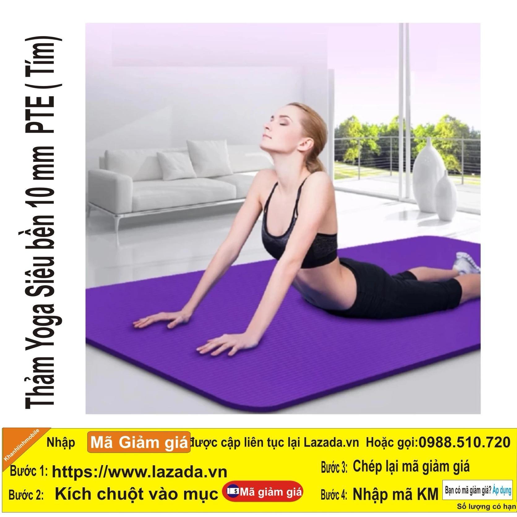 Giá Bán Thảm Tập Yoga Loại 10 Mm Cao Cấp Sản Xuất 2017 Loại 1 Tặng Tui Đựng Thảm Tim Có Thương Hiệu