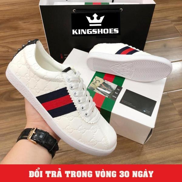 Giày Sneaker Nam Trắng Cực Hot (Giá Sốc) - KINGSHOES (KS12)