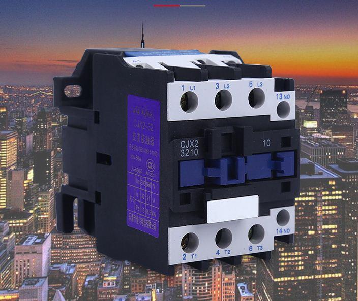 Khởi động từ contactor công suất lớn CJX2-3210 32A/220V (Trắng phối xanh)