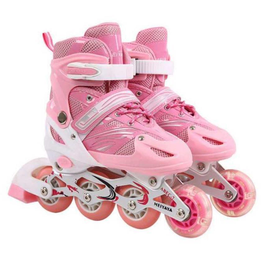 Giày trượt patin nữ, Giá của giày patin, Giày trượt Patin trẻ em tặng mũ và đồ bảo hộ (5 đến 14 tuổi) thiết kế thoải mái, ổn định, trọng lượng nhẹ - Sản phẩm bán chạy - Bảo hành uy tín bởi Click - Buy