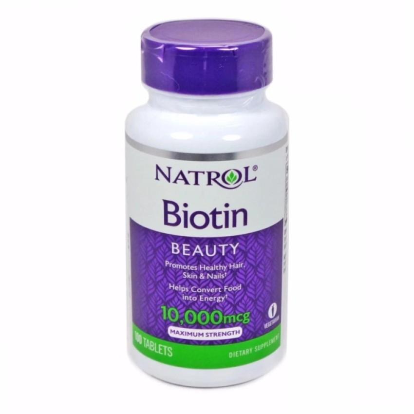 Hình ảnh Viên uống mọc tóc Natrol Biotin 100 viên