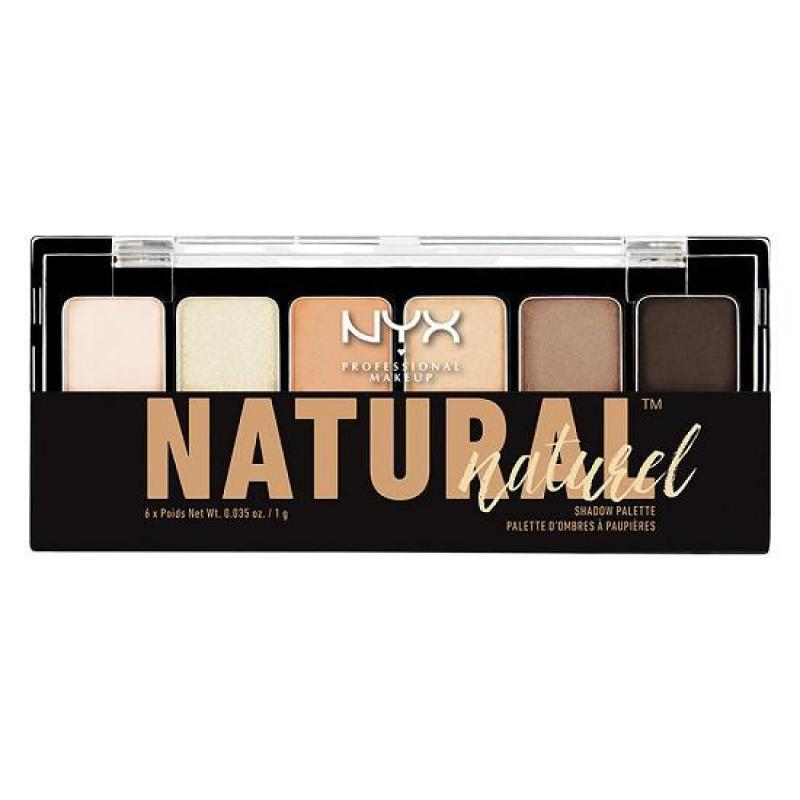 Phấn mắt 6 màu NYX Professional Makeup The Natural Shadow Palette Natural TNS01