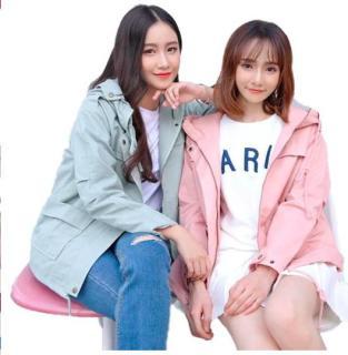 áo khoác kaki nữ thanh lịch( áo khoác giá rẻ 2018) co video+hinh thật yên tam mua sắm thumbnail