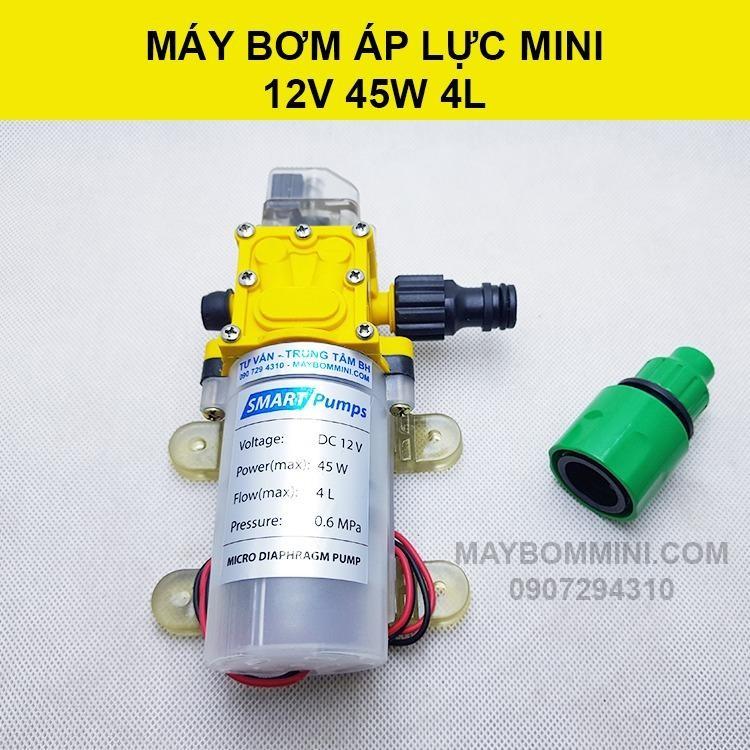 Mua May Bơm Mini Ap Lực 12V 45W 4L Cao Cấp Trực Tuyến Hồ Chí Minh