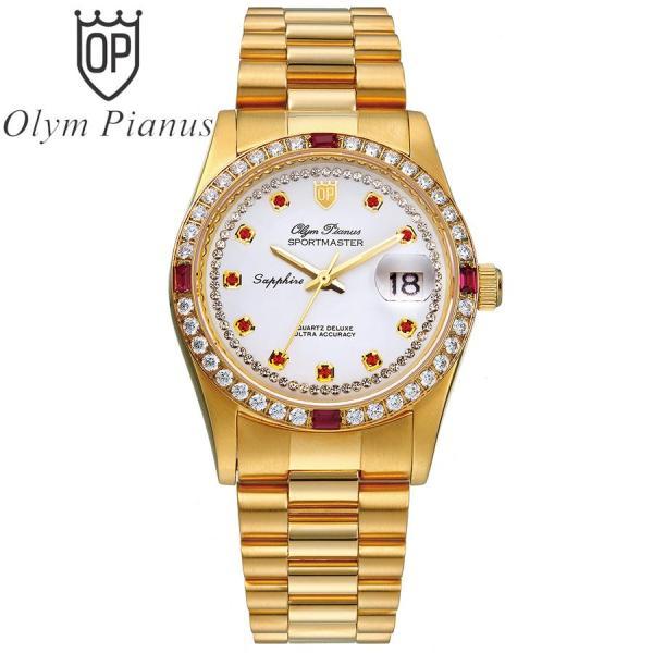Nơi bán Đồng hồ nam mặt kính sapphire Olym Pianus OP89322DK trắng hạt đỏ