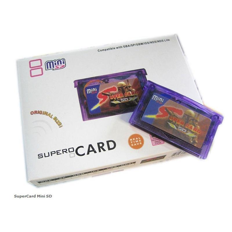 Hình ảnh Mini Siêu Thẻ & SD Flash Adapter Thẻ Hộp Mực 2 gb Trò Chơi Dự Phòng Thiết Bị cho GBA SP GBM IDS NDS NDSL (có Nắp Thẻ) -quốc tế