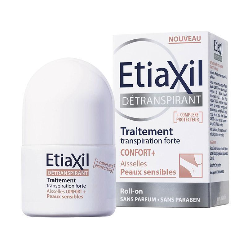 Lăn Khử Mùi Etiaxil Confort+ Peaux Sensibles Đặc Trị Mồ Hôi, Hôi Nách 15ml Dành Cho Da Đặc Biệt Nhạy Cảm (Nâu) nhập khẩu