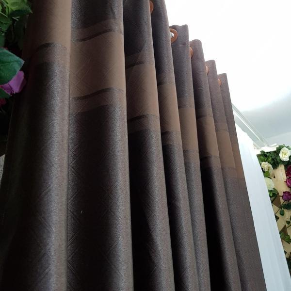 Rèm, màn cửa Chính may sẵn - 190x270 cm Hoàng Yên - Chống Nắng Trơn Khoen Lỗ Cao Cấp R1-14  [Vải dày, rủ bền & đẹp] [Có may theo kích thước]