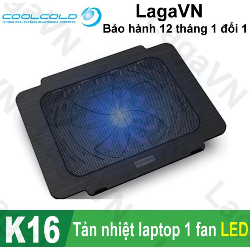 Đế tản nhiệt laptop COOLCOLD Thin Ice K16 (Đen)