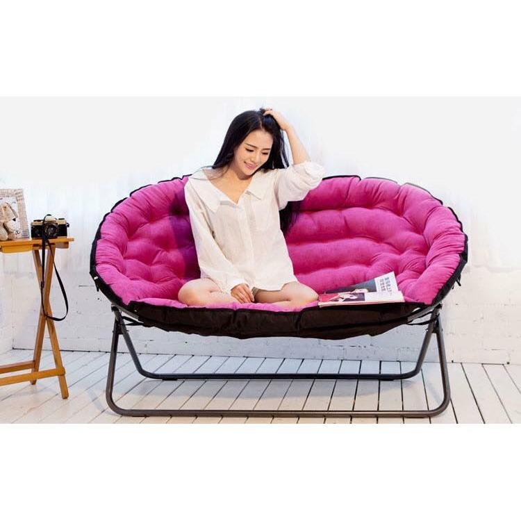 Ghế bàu dục đa năng màu hồng