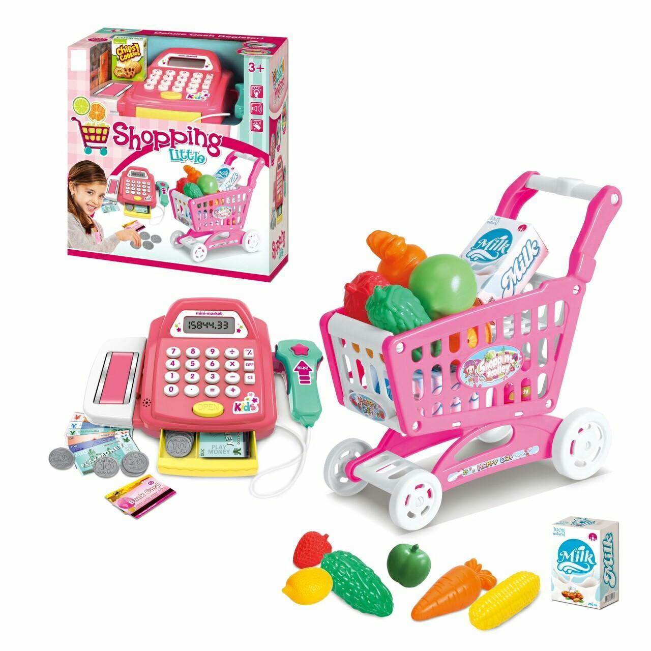 Hình ảnh Bộ đồ chơi máy tính tiền và xe đẩy siêu thị