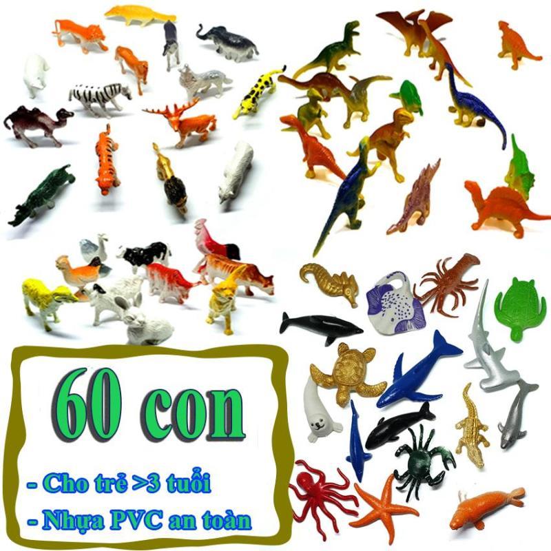 Mô hình đồ chơi 60 chi tiết Animal Dinosaur Sea Worldnhựa PVC an toàn - New4all