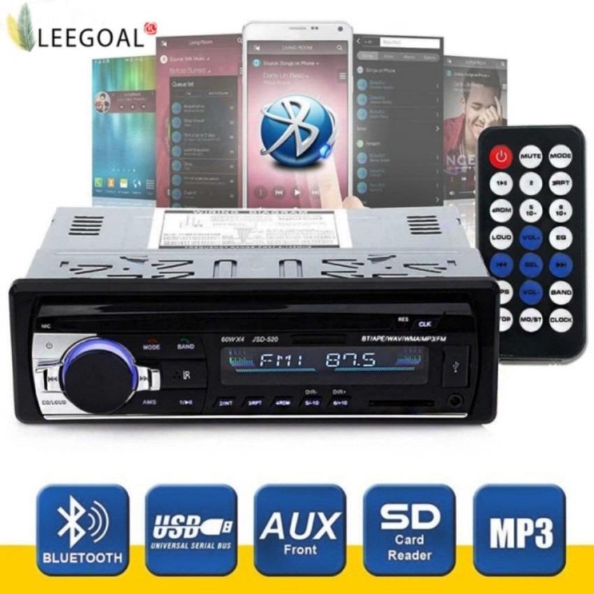 Coupon Ưu Đãi Bộ Thu âm Thanh Stereo Không Dây Kết Nối Bluetooth Dùng Cho Xe Hơi Hiệu, Bộ Thu Đơn DIN 12 V FM Có điều Khiển Từ Xa, Máy Nghe Nhạc MP3 Trong Xe, Support đầu Vào Aux, Thẻ TF, USB