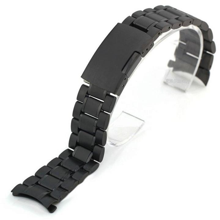 Dây đồng hồ size 20mm đầu cong hạt đúc kim loại không gỉ D1606 bán chạy