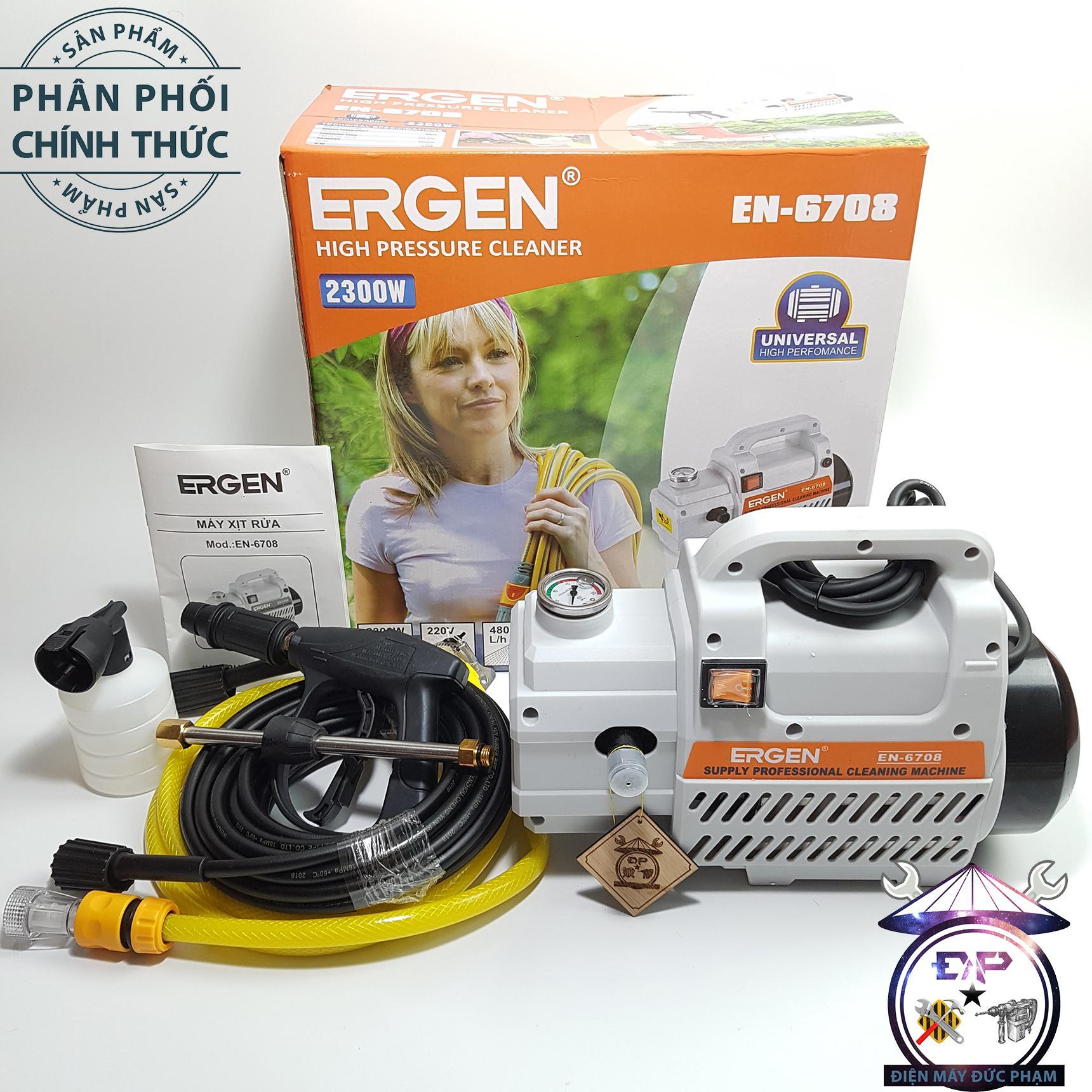 Máy bơm xịt rửa xe áp lực cao tự hút nước Ergen EN-6708-2300W-Công Ty