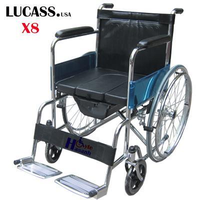 Xe lăn có bô cho người khuyết tật Lucass X8 (Đen)