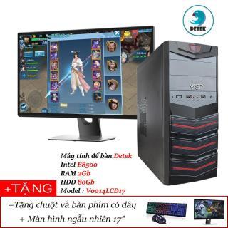 [HCM]Bộ Máy tính để bàn Detek - Intel E8500 RAM 2Gb HDD 80Gb Model V0014L kèm màn hình LCD 17 INCH và bộ bàn phím chuột có dây thumbnail