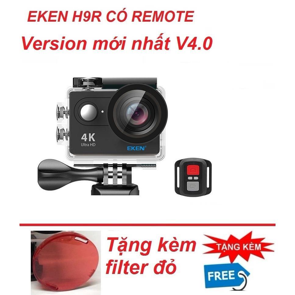 Hình ảnh Camera hành trình 4K wifi Eken H9R(không remote) phiên bản mới năm 2018 ver.5.0 tặng kèm kính lọc đỏ