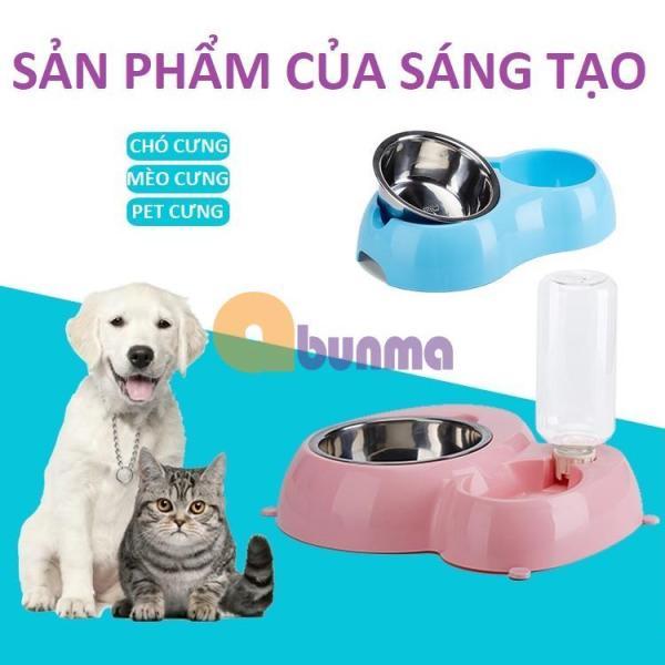 Khay ăn và uống nước bán tự động cho Pet ( Chó, mèo) MPD-02, Máng ăn uống, bát ăn cho chó mèo - Cao cấp - Hồng