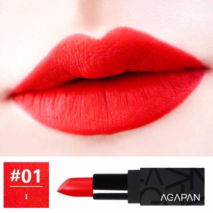 Son Thỏi Li Agapan Pit A Pat Matte Lipstick 3 5G 01 I Đỏ Cam Chiết Khấu Hồ Chí Minh