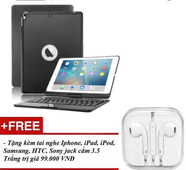 Giá Bàn phím bluetooth F180 cho iPad 2018 - 7 màu đèn bàn phím - tặng kèm tai nghe iPhone, iPad, iPod, Samsung, HTC, Sony jack cắm 3.5 Trắng PKCB-BANPHIM [CÓ ẢNH THẬT]