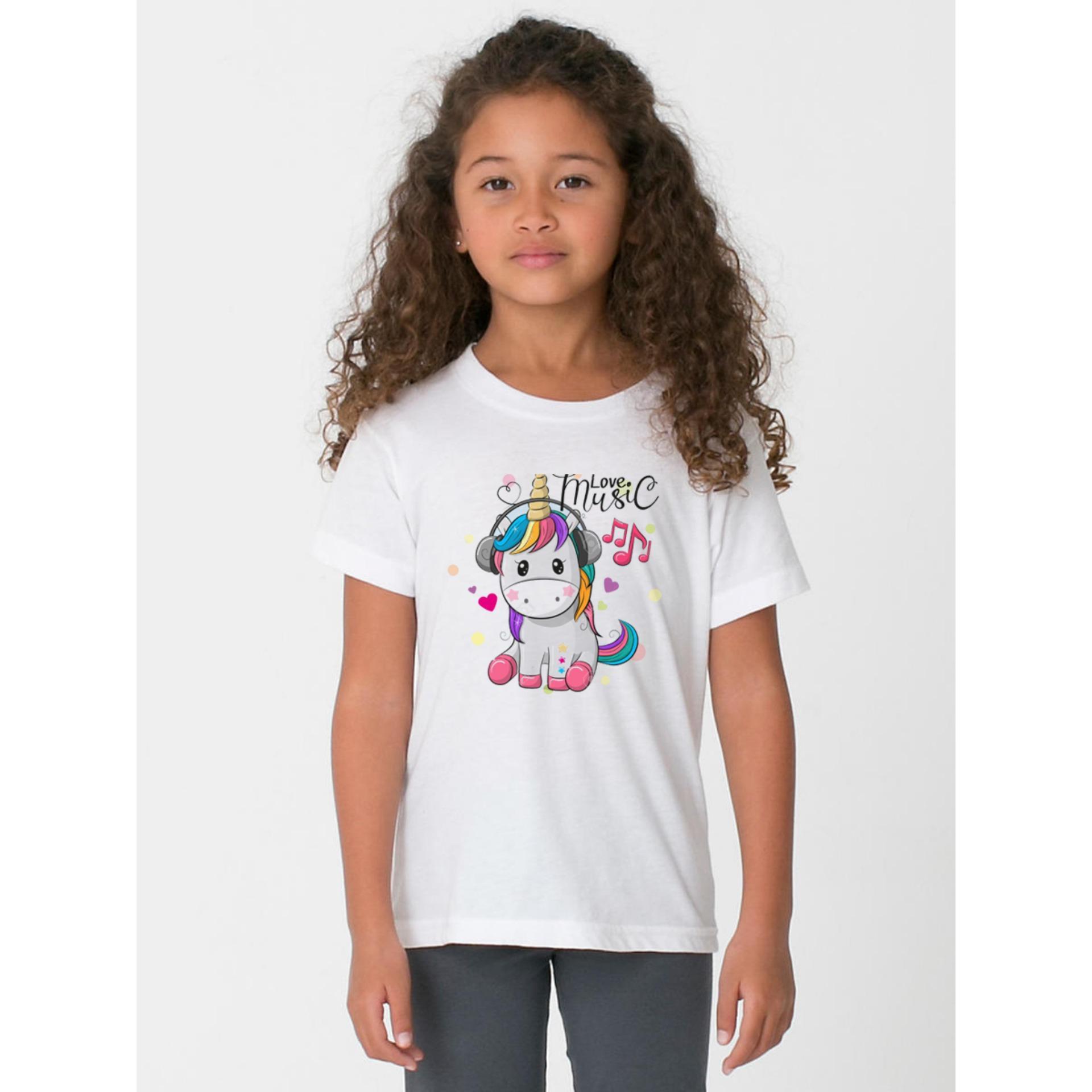 Giá bán AoThun102 Áo Thun bé gái in hình chất liệu mềm mịn thoáng mát ATBG32