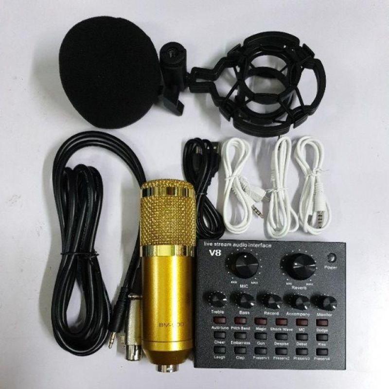 Combo livestream thu âm míc BM800,Sound card v8,Bh 6 tháng đổi mới