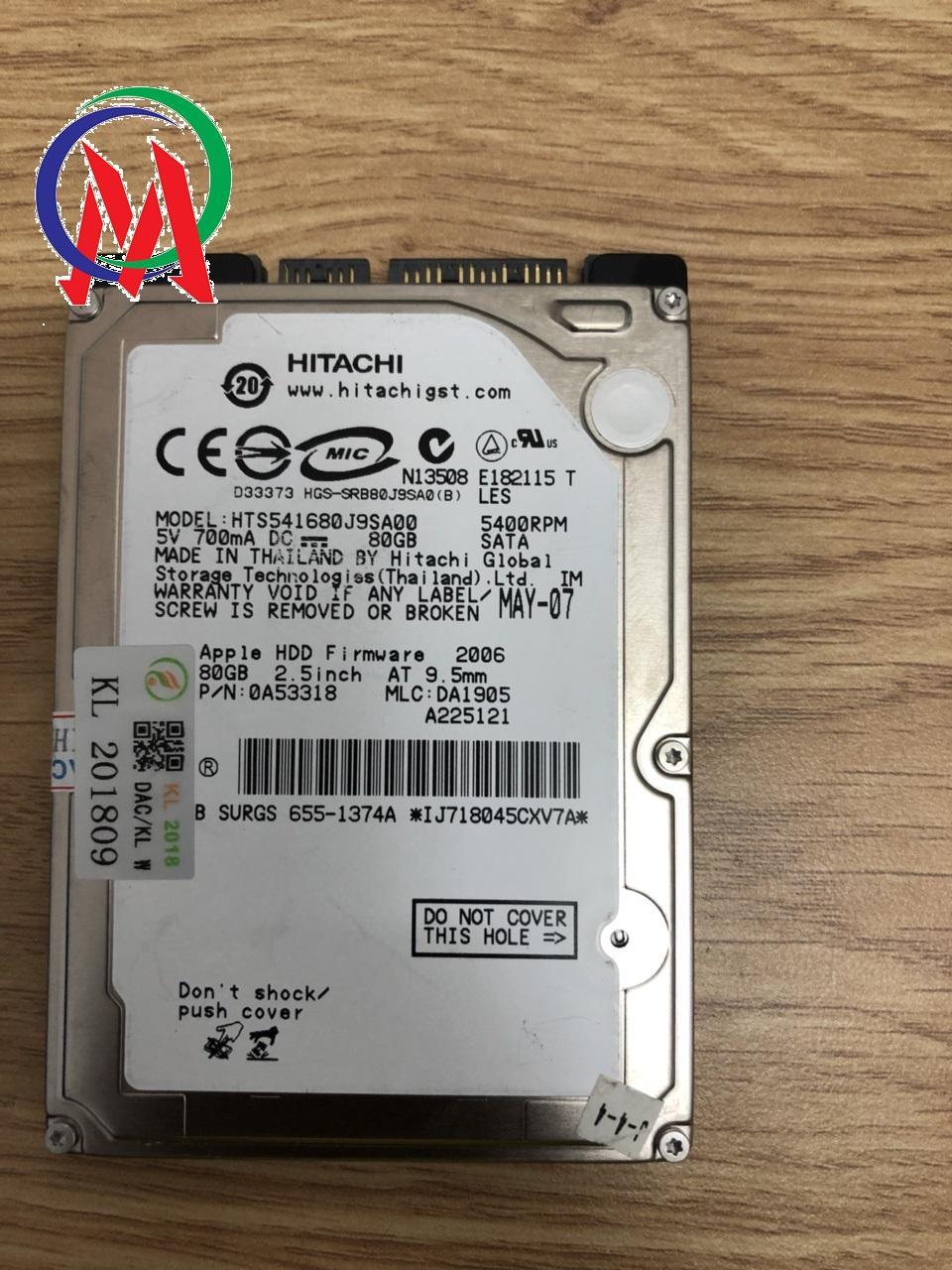 Ổ cứng HDD Laptop 80gb Hitachi Bảo hành 12 tháng