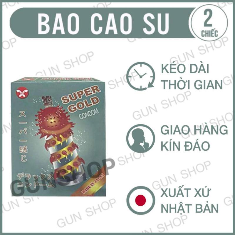 Bao cao su Super Gold Gân, Gai siêu lớn (Nhật) [ Gunshop-BCS01 ]