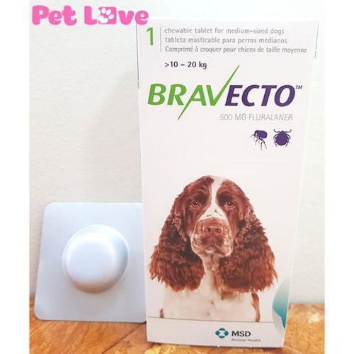 Thuốc Bravecto trị ghẻ, viêm da, ve rận (chó từ 10 - 20kg) Nhật Bản